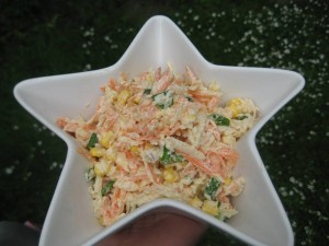 sweetcorn coleslaw raw vegan