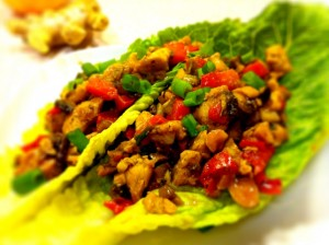 leftovers on lettuce healthy snack