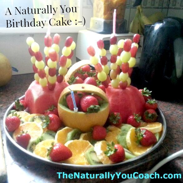 Fresh Fruit Birthday Cake The Naturally You Coach