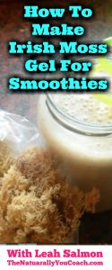 how to make irish moss gel