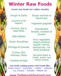 warming raw foods