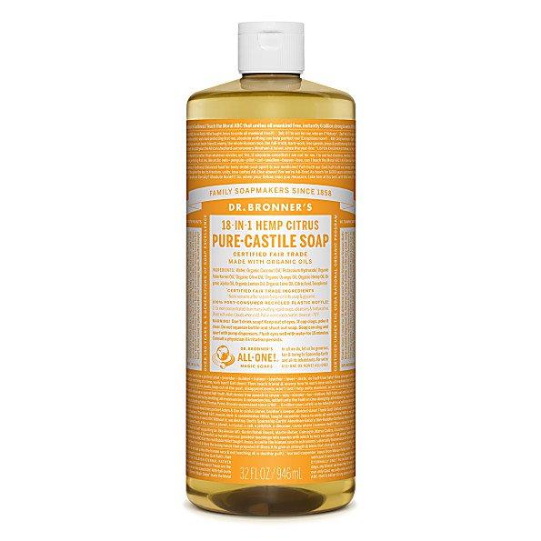 Dr Bronner's Citrus 946 ml Organic Castile Liquid Soap