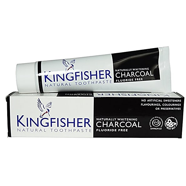Kingfisher Charcoal Whitening Fluoride Free Toothpaste 100mls